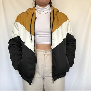 NWT Ambiance outerwear color block puffer jacket